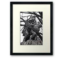 Iwo Jima Memorial through the Trees Framed Print