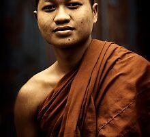 Phnom Penh monk by Anthony Begovic