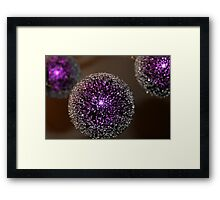 Purple Christmas Framed Print
