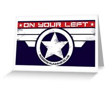 """""""On Your Left"""" Hybrid Inverted Greeting Card"""