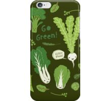 Go Green! (Leafy Green!) iPhone Case/Skin