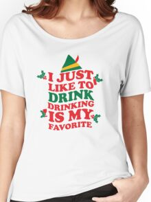 DRINKING IS MY FAVORITE Women's Relaxed Fit T-Shirt