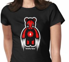 bearly here Womens Fitted T-Shirt