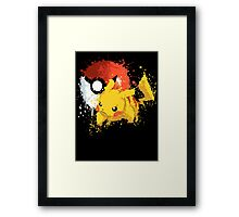 Pika Smash Framed Print