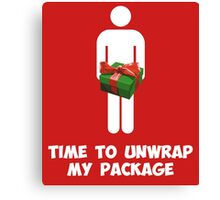 Time to Unwrap My Christmas Package Canvas Print