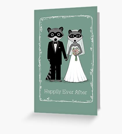 Raccoons Wedding Greeting Card