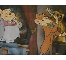 Basil Of Baker Street Sherlock Holmes Great Mouse Detective Photographic Print