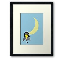 raven and moon Framed Print