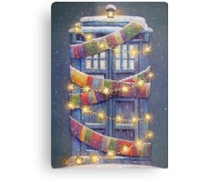 Doctor Who Christmas Tardis  Metal Print