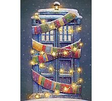 Doctor Who Christmas Tardis  Photographic Print