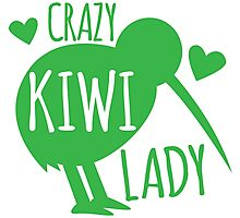 CRAZY kiwi lady Photographic Print
