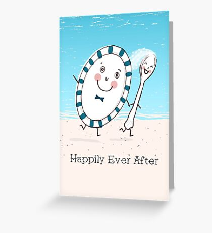 Dish Runs Away with the Spoon Greeting Card