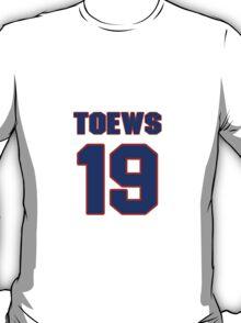 National Hockey player Jonathan Toews jersey 19 T-Shirt