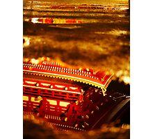 Asakusa temple reflection Photographic Print