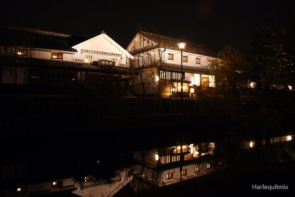 Kurashiki-shi Bikan at Night by Harlequitmix