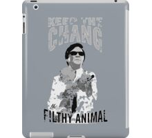Keep The Chang You Filthy Animal (Black & White) iPad Case/Skin