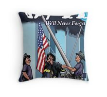 8/11 We'll Never Forget. Throw Pillow