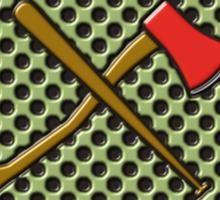 Zombie hunter shield logo Sticker