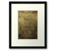 Supernatural Exorcism Framed Print