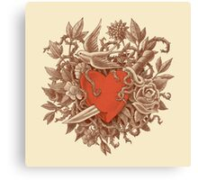 Heart of Thorns  Canvas Print