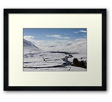 Scottish Highlands in Winter Framed Print