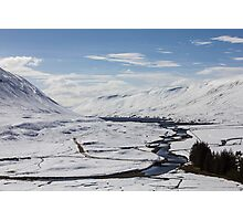 Scottish Highlands in Winter Photographic Print