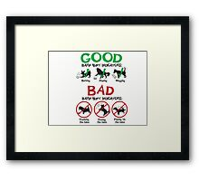 Good and Bad Barn Hunt Indicators Framed Print