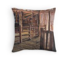 Northern woolshed Throw Pillow
