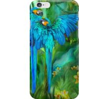 Tropic Spirits - Gold and Blue Macaws iPhone Case/Skin