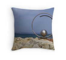Steel sculpture.  Throw Pillow