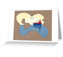 Lonely little sailor (light) Greeting Card