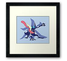 Greninja with Water Kanji Framed Print