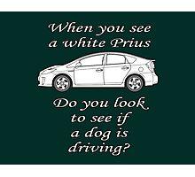 White Prius Photographic Print
