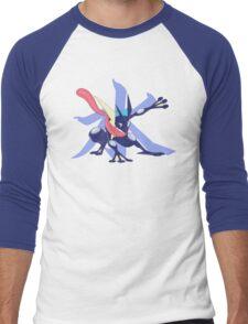 Greninja with Water Kanji Men's Baseball ¾ T-Shirt