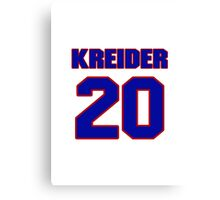 National Hockey player Chris Kreider jersey 20 Canvas Print