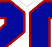 National Hockey player Chris Kreider jersey 20 Sticker