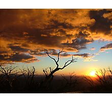 Sunset over Mount Feathertop Photographic Print