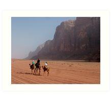 Camels of the desert Art Print