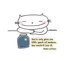 You're only given one little spark of madness...  / Cat doodle Photographic Print