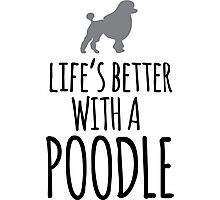 Funny 'Life's Better With a Poodle' T-Shirt, Hoodies and Gifts Photographic Print