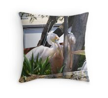 Pelicans x three Throw Pillow