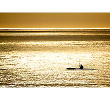 Lone Rower Photographic Print