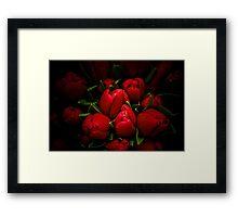 Red Tulip Framed Print