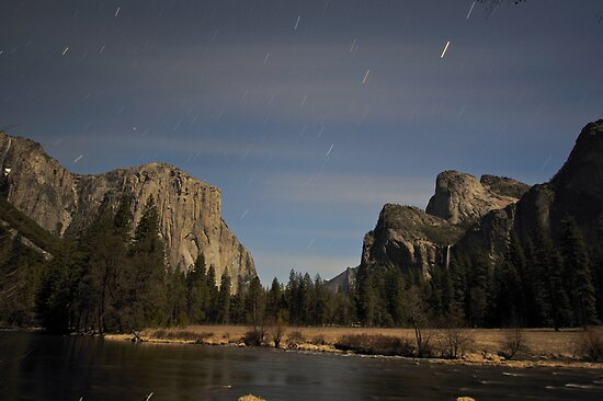 Yosemite Valley Floor By Night by Philip Wong