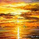 Sunset Of Feelings — Buy Now Link - www.etsy.com/listing/214059438 by Leonid  Afremov