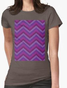 Retro Zig Zag Chevron Pattern Womens Fitted T-Shirt