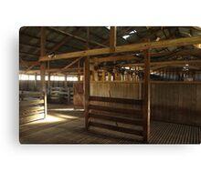 Oakhampton Wool Shed.  Near Tamworth, NSW Canvas Print