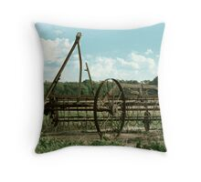 Antique Plow in Indiana Throw Pillow