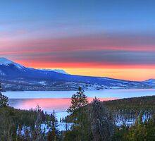 Lake Dillon East Sunset Panorama by Scott Ingram