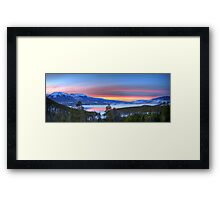 Lake Dillon East Sunset Panorama Framed Print